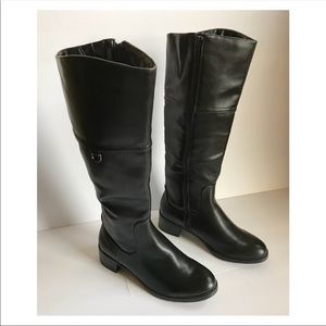Shoes - NWOB Black Leather Riding Boots SZ 6.5